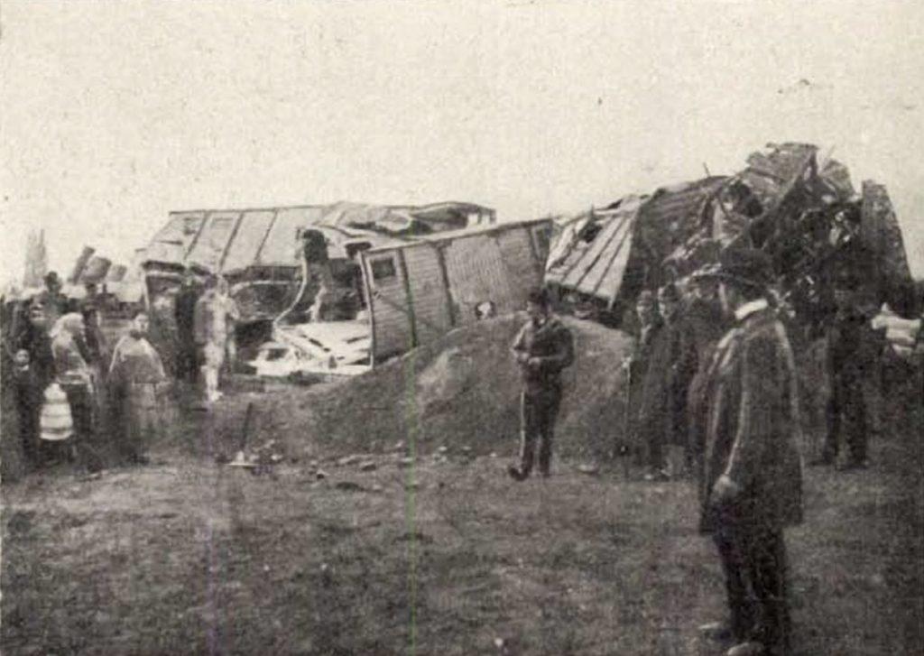 Egy tehervonat balesete Galántánál