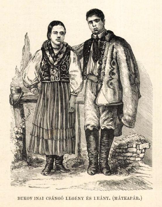 Bukovinai csángó legény és leány