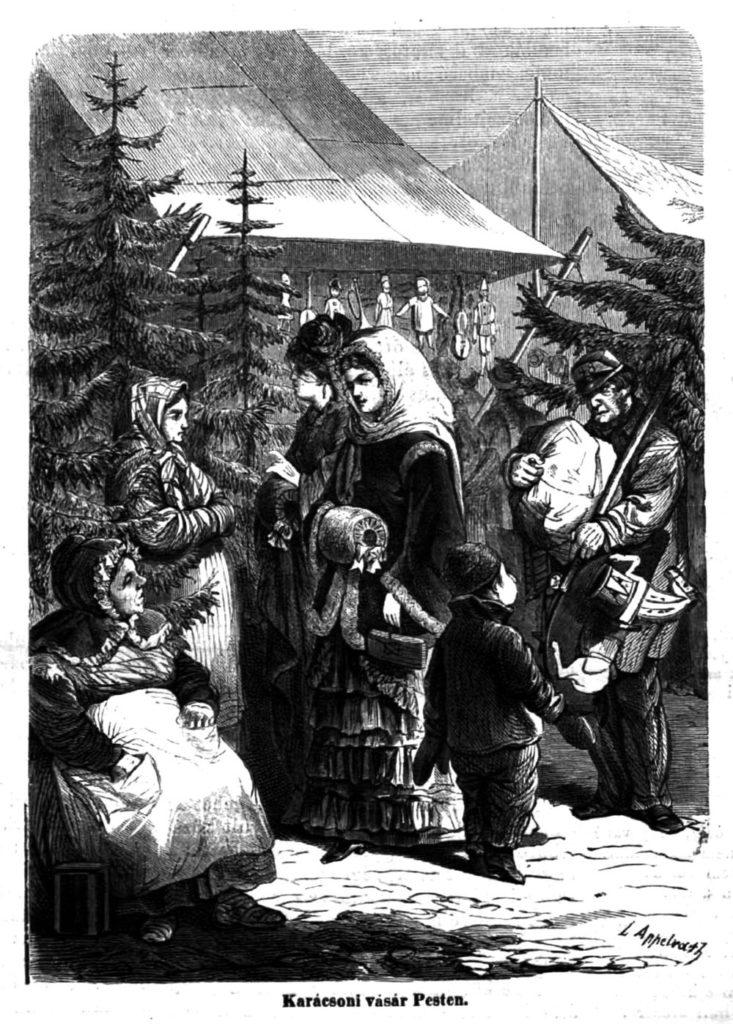 Karácsonyi vásár Pesten