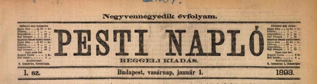 Pesti Napló 1893