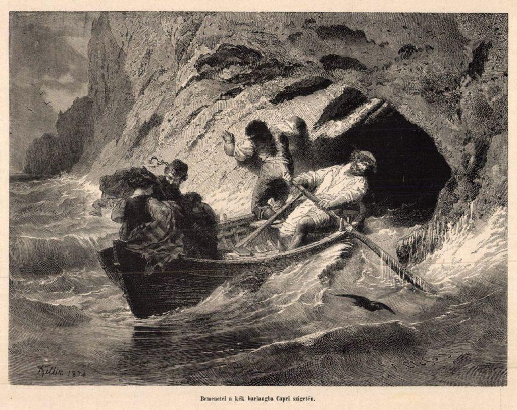 Bemenetel a kék barlangba Capri szigetén