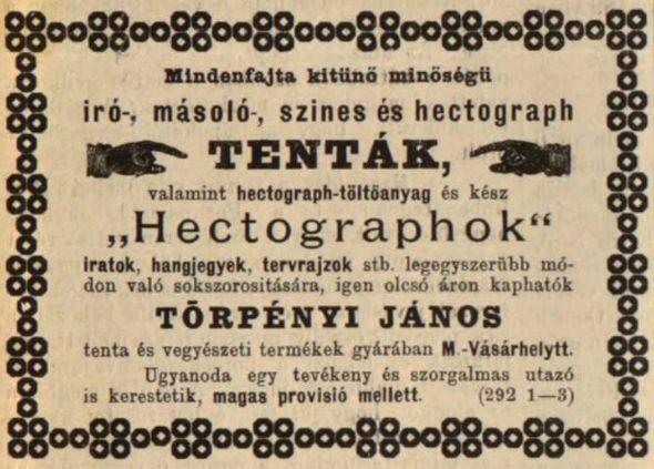 Hirdetés a Kolozsvár c. folyóiratban