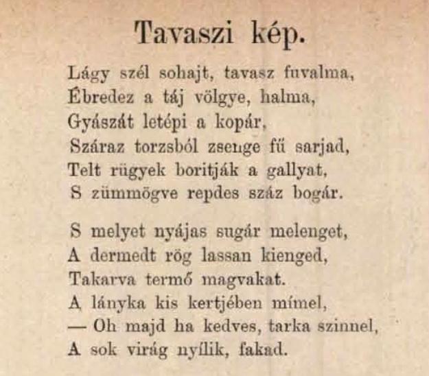 Vargha Gyula: Tavaszi kép (vers)